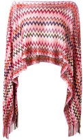 M Missoni zig-zag cropped poncho top - women - Polyamide/Polyester/Viscose - One Size