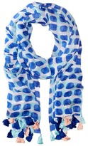 Kate Spade Island Stamped Texture Oblong Scarf Scarves