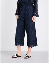 Zimmermann Divinity Wheel cotton-broderie anglaise trousers