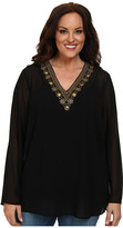 MICHAEL Michael Kors Size Embellished V-Neck Top