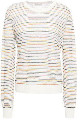 Joie Ade Metallic Striped Linen-blend Sweater