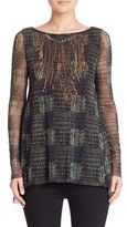 Fuzzi Chain Motif Patterned Tunic