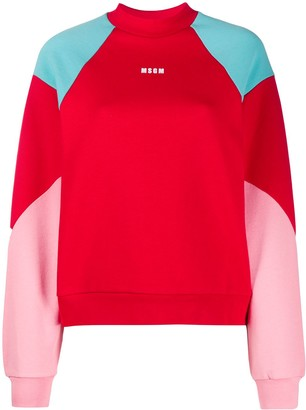 MSGM Colour-Block Sweatshirt