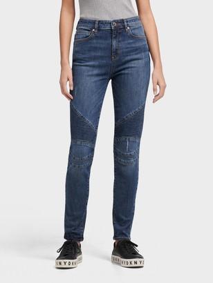 DKNY Women's Moto Jean - Indigo - Size 25