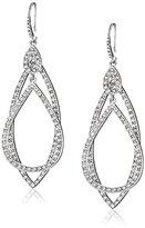 ABS by Allen Schwartz Silver Tone Pave Orbital Earrings