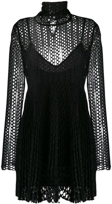 Philosophy di Lorenzo Serafini Mesh Layered Mini Dress