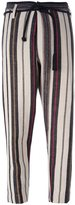 Forte Forte striped tapered trousers - women - Cotton/Linen/Flax/Polyamide/Virgin Wool - 1