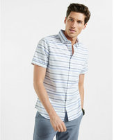 Express soft wash short sleeve stripe shirt