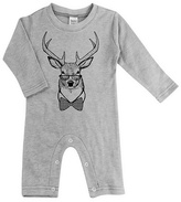 Urban Smalls Light Heather Gray Studious Stag Crewneck Playsuit - Infant