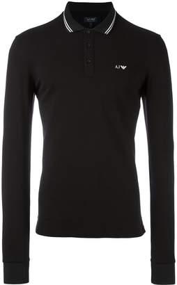 Armani Jeans embroidered logo polo shirt