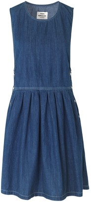 Mads Norgaard Vintage Soft Indigo Dalia Dress - 36
