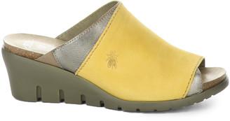 Fly London Idar Leather Comfort Wedge Sandal