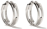 Maison Dauphin 18kt white gold and diamond C3V alternate setting earrings