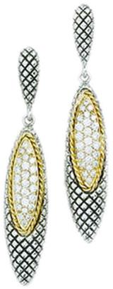 Candela Andrea Ibiza 18K & Silver Diamond & Quartz Drop Earrings