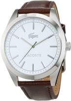 Lacoste Men's 44mm Brown Leather Band Steel Case Quartz Dial Analog Watch 2010893