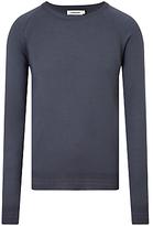 J. Lindeberg Andre Merino Wool Jumper, Washed Blue