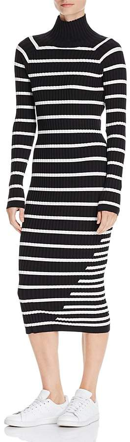 Alexander Wang Striped Body-Con Sweater Dress