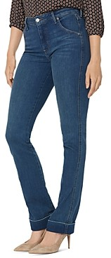 NYDJ Slim Bootcut Cuffed Jeans in Reverence