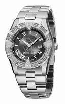 Roberto Cavalli Women's Stainless Steel Case and Bracelet Dial Diamonds Date Display