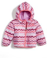 The North Face Infant Girl's 'Perrito' Reversible Water Repellent Hooded Jacket