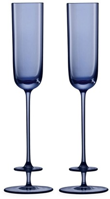 LSA International Champagne Theatre Two-Piece Glass Flute Set