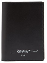 Off-White Off White Logo Leather Passport Holder - Mens - Black