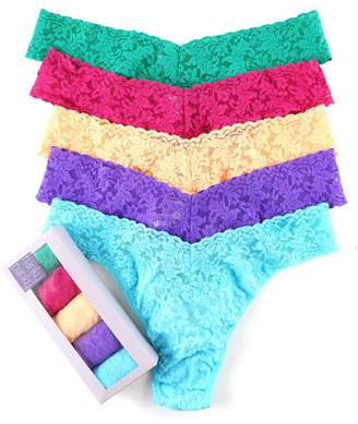 Hanky Panky Plus Size Signature Lace Thong 5-Pack