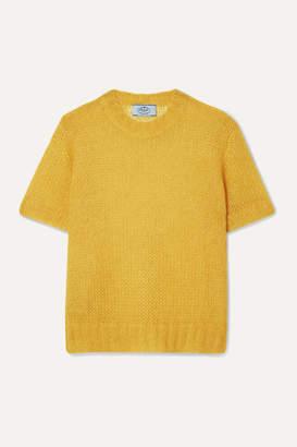 Prada Mohair-blend Sweater - Yellow