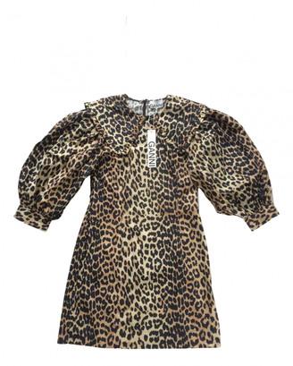 Ganni Spring Summer 2020 Brown Cotton Dresses