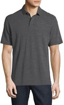 Zegna Sport Techmerino Wool Polo Shirt, Dark Gray