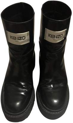 Kenzo \N Black Leather Ankle boots