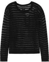 RtA Charlotte Metallic Open-Knit Cashmere Sweater