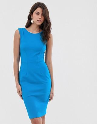 Closet London Closet pleated shoulder dress