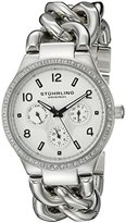 Stuhrling Original Women's 813S.01 Vogue Renoir Quartz Day and Date Swarovski Crystal-Accented Stainless Steel Chain-Link Bracelet Watch