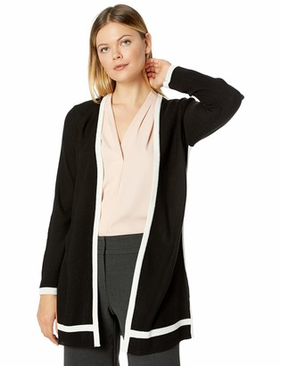 Calvin Klein Women's Cardigan with Contrast Trim