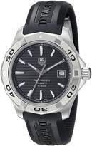 Tag Heuer Men's Stainless Steel Analog with Stainless Steel Bezel Watch WAP2010.FT6027