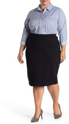City Chic Solid Knit Tube Midi Skirt (Plus Size)