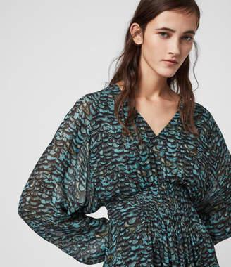 AllSaints Nichola Plume Dress