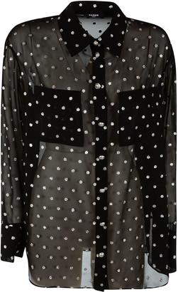 Balmain See-through Embellished Shirt