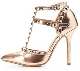 Charlotte Russe Studded T-Strap D'Orsay Pumps