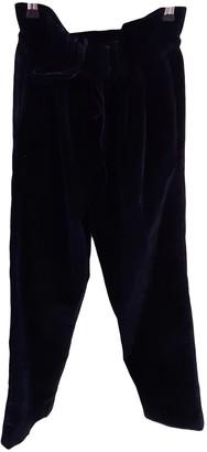 Isa Arfen Black Velvet Trousers for Women