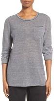 Eileen Fisher Women's Stripe Organic Linen Sweater