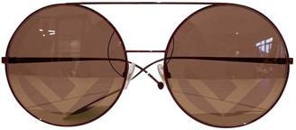 Fendi Burgundy Plastic Sunglasses