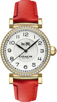 Coach 14502400 madison gold-plated stainless steel and leather watch