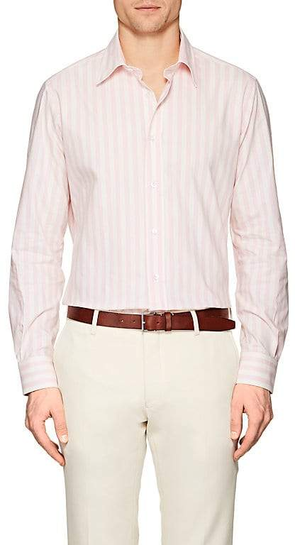 Luciano Barbera Men's Striped Cotton Poplin Shirt