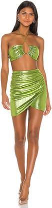 superdown x Draya Michele Natalya Ruched Skirt Set