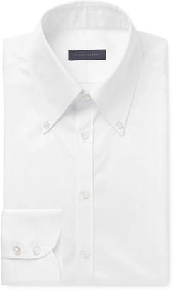 Thom Sweeney White Slim-Fit Button-Down Collar Cotton-Poplin Shirt