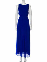 Thumbnail for your product : Nicole Miller Crew Neck Long Dress Blue