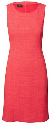 Akris Sleeveless Plaid Wool-Blend Sheath Dress
