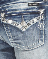 Miss Me Jeans, Bootcut Light-Wash Rhinestone Studded